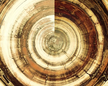 Spherical grunge texture in ancient style, aged background with creative decor and different color patterns: yellow (beige); brown; gray; black; white Stock Photo