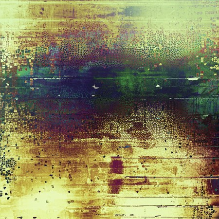 mottled: Retro style grunge background, mottled vintage texture. With different color patterns: yellow (beige); brown; green; blue; purple (violet); cyan