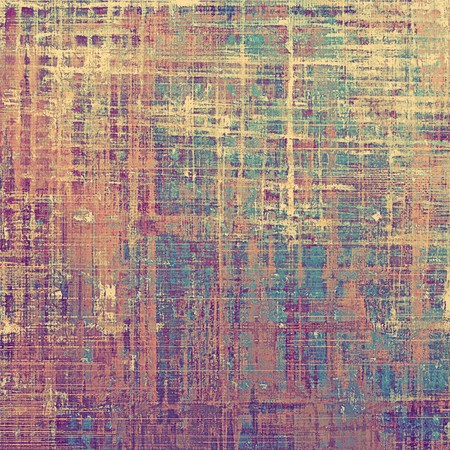 fibrous: Old style distressed vintage background or texture. With different color patterns: yellow (beige); brown; blue; red (orange); purple (violet); pink