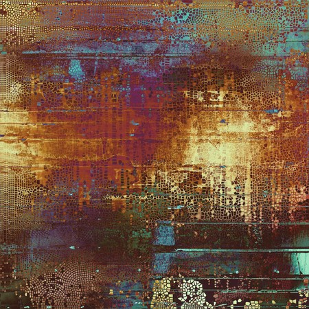 mottled: Retro style grunge background, mottled vintage texture. With different color patterns: yellow (beige); brown; green; blue; red (orange); purple (violet)