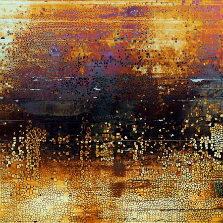 crosshatching: Old style distressed vintage background or texture. With different color patterns: yellow (beige); brown; black; red (orange); purple (violet); pink