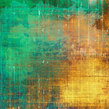 eroded: Grunge background for your design, aged shabby texture with different color patterns: yellow (beige); brown; green; blue; red (orange); cyan Stock Photo