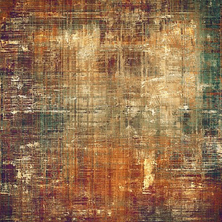 corrosion: Vintage background, antique grunge backdrop or scratched texture with different color patterns: yellow (beige); brown; gray; green; red (orange); purple (violet)