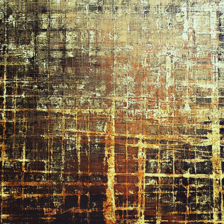obscure: Damaged retro texture with grunge style elements and different color patterns: yellow (beige); brown; gray; black; red (orange)