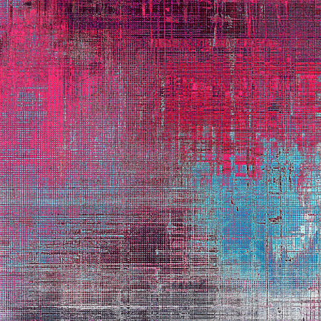 exceptional: Abstract vintage background with grunge effects, ragged elements, and different color patterns: gray; blue; purple (violet); cyan; pink Stock Photo