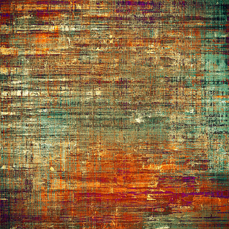 Ancient texture or damaged old style background with vintage grungy design elements and different color patterns: yellow (beige); brown; gray; blue; red (orange); purple (violet)