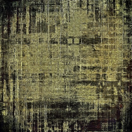 crosshatching: Vintage background - dirty ancient texture. Antique grunge backdrop with different color patterns: yellow (beige); brown; gray; black Stock Photo
