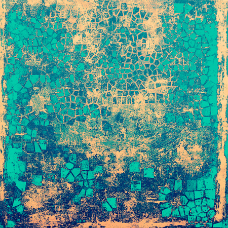 eroded: Beautiful retro background, nice looking ancient texture with different color patterns: yellow (beige); blue; cyan