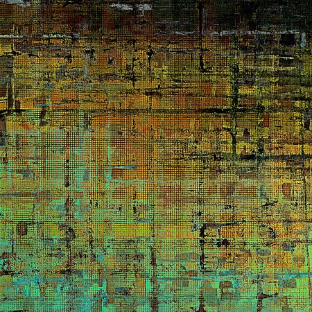 Art graphic texture for grunge abstract background. Aged colorful backdrop with different color patterns: yellow (beige); brown; black; green; blue; red (orange)