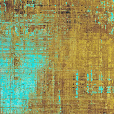 Scratched vintage colorful background, designed grunge texture. With different color patterns: yellow (beige); brown; blue; cyan