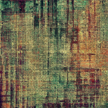 Shabby texture or background with classy vintage elements. Grunge backdrop with different color patterns: yellow (beige); brown; gray; green; red (orange); purple (violet)