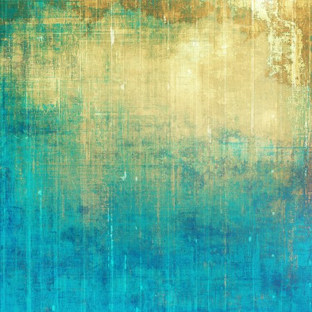 color design: Old style design, textured grunge background with different color patterns: yellow (beige); brown; green; blue; cyan
