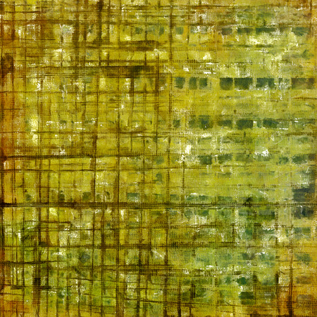 degraded: Decorative vintage texture or creative grunge background with different color patterns: yellow (beige); brown; gray; green