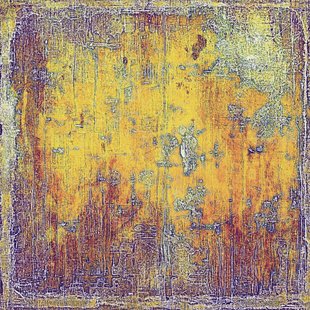 eroded: Vintage torn texture or stylish grunge background with ancient design elements and different color patterns: yellow (beige); brown; red (orange); purple (violet); pink