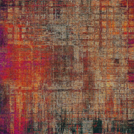 patched: Shabby texture or background with classy vintage elements. Grunge backdrop with different color patterns: yellow (beige); brown; gray; red (orange); purple (violet); pink