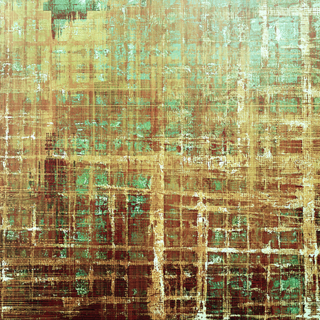grime: Vintage style background with ancient grunge elements. Aged texture with different color patterns: yellow (beige); brown; green; blue; cyan