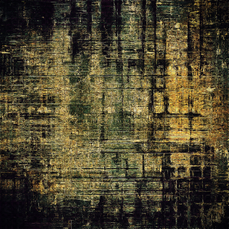 eroded: Oldest vintage background in grunge style. Ancient texture with different color patterns: yellow (beige); brown; gray; green; black Stock Photo