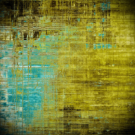 Scratched vintage colorful background, designed grunge texture. With different color patterns: yellow (beige); brown; blue; black; cyan Stock Photo
