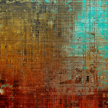 jagged: Background with dirty grunge texture, vintage style elements and different color patterns: yellow (beige); brown; blue; red (orange); cyan