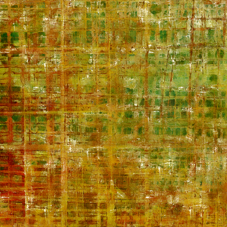 obscure: Vintage style background with ancient grunge elements. Aged texture with different color patterns: yellow (beige); brown; green; red (orange) Stock Photo