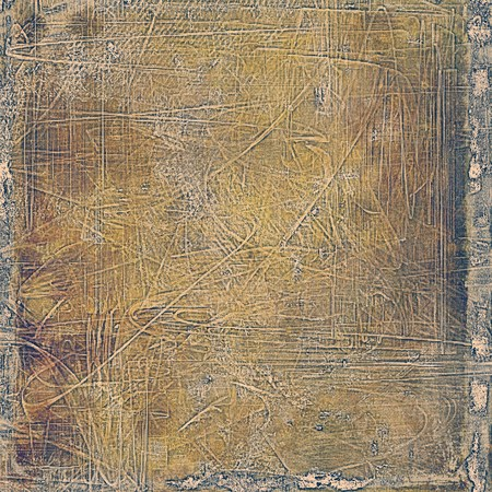eroded: Grunge vintage template or antique background with different color patterns: yellow (beige); brown; gray; purple (violet); black Stock Photo