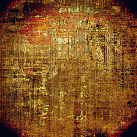 crosshatching: Old background with grunge decorative elements. Retro composition for your design. With different color patterns: yellow (beige); brown; red (orange); black; pink