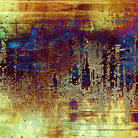 saturated color: Old style design, textured grunge background with different color patterns: yellow (beige); brown; blue; red (orange); purple (violet); pink