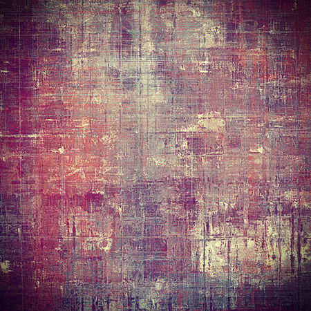 eroded: Retro abstract background, vintage grunge texture with different color patterns: yellow (beige); brown; gray; purple (violet); pink; cyan Stock Photo