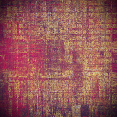 jagged: Background with dirty grunge texture, vintage style elements and different color patterns: yellow (beige); brown; red (orange); purple (violet); pink
