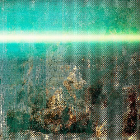 obscure: Old grunge background or aged shabby texture with different color patterns: brown; gray; green; blue; white; cyan