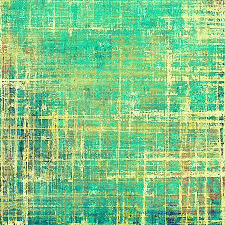 Oldest vintage background in grunge style. Ancient texture with different color patterns: yellow (beige); brown; green; blue; cyan