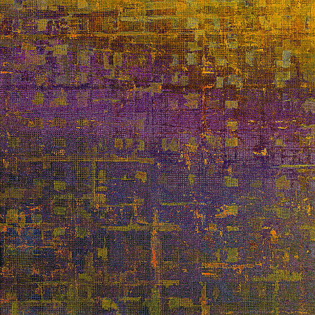 Old style design, textured grunge background with different color patterns: yellow (beige); brown; green; red (orange); purple (violet)