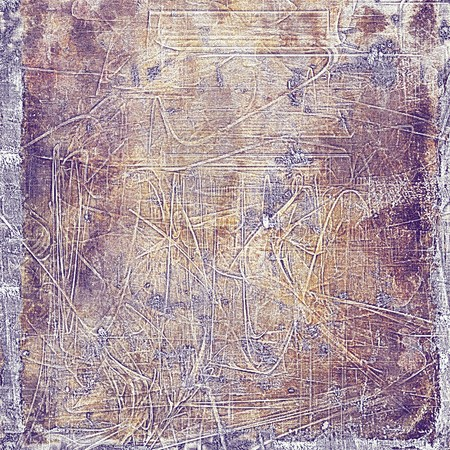 eroded: Grunge background for your design, aged shabby texture with different color patterns: yellow (beige); brown; gray; purple (violet); pink Stock Photo