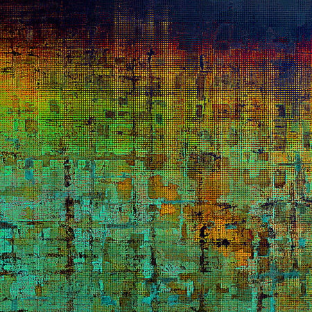 Grunge old texture used as abstract vintage style background. With different color patterns: yellow (beige); green; blue; red (orange); cyan Stock Photo