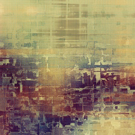 jagged: Stylish grunge texture, old damaged background. With different color patterns: yellow (beige); brown; red (orange); purple (violet); pink; cyan Stock Photo