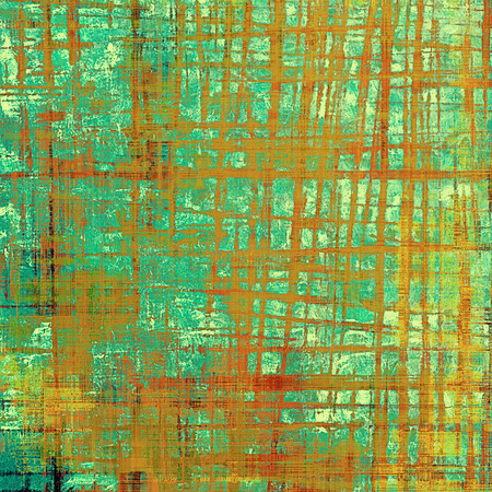 obscure: Aged background or texture. Vintage graphic composition with grunge style elements and different color patterns: yellow (beige); brown; green; blue; red (orange); cyan
