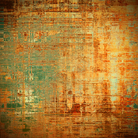 Retro vintage style elements on aged grunge texture. With different color patterns: yellow (beige); brown; gray; green; red (orange)