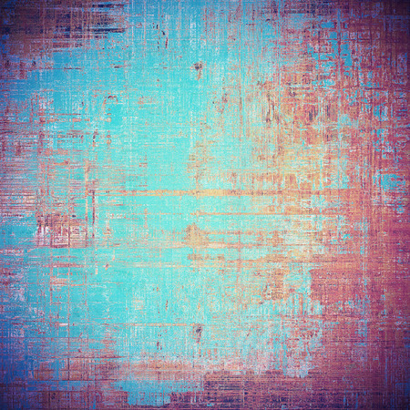 Shabby texture or background with classy vintage elements. Grunge backdrop with different color patterns: brown; blue; red (orange); purple (violet); pink; cyan