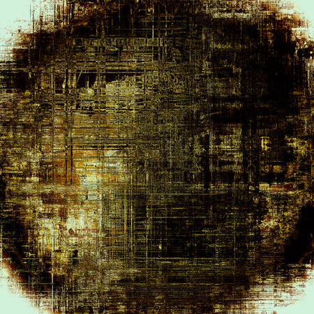 eroded: Spherical antique texture, weathered background with vintage look and different color patterns: yellow (beige); brown; gray; black; white