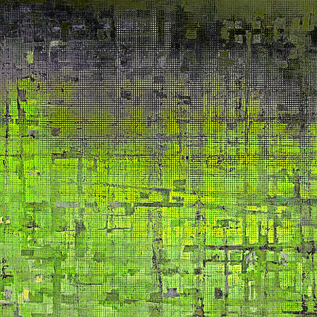 jagged: Distressed grunge texture, damaged vintage background with different color patterns: yellow (beige); black; green; gray
