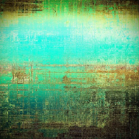 damaged: Distressed grunge texture, damaged vintage background with different color patterns: yellow (beige); brown; black; green; blue; cyan