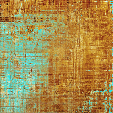 eroded: Abstract vintage colored background. With different color patterns: yellow (beige); brown; blue; red (orange)