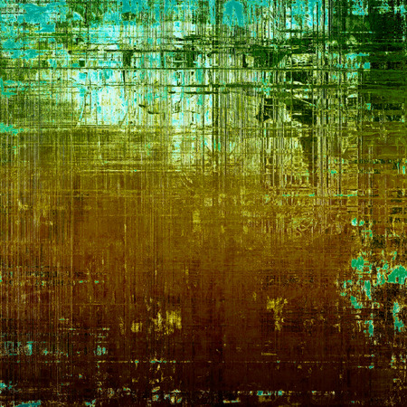 eroded: Antique frame with grunge background. With different color patterns: yellow (beige); brown; green; blue; red (orange); cyan