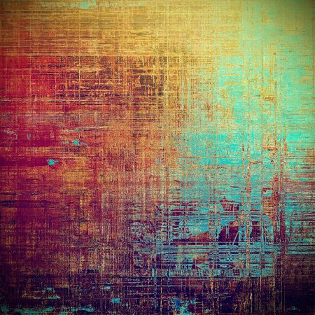 mottled: Vintage mottled frame, textured grunge background with different color patterns: yellow (beige); green; blue; red (orange); purple (violet); pink