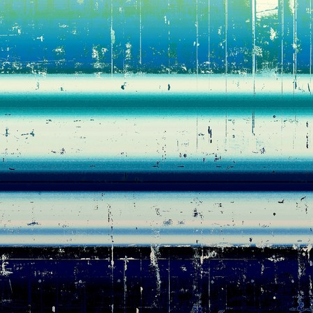 degraded: Old crumpled grunge background or ancient texture. With different color patterns: black; green; blue; white; cyan Stock Photo