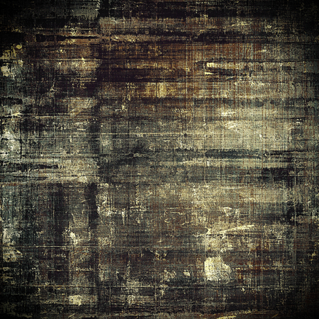 eroded: Vintage and retro design elements on faded grunge background. With different color patterns: yellow (beige); brown; black; gray