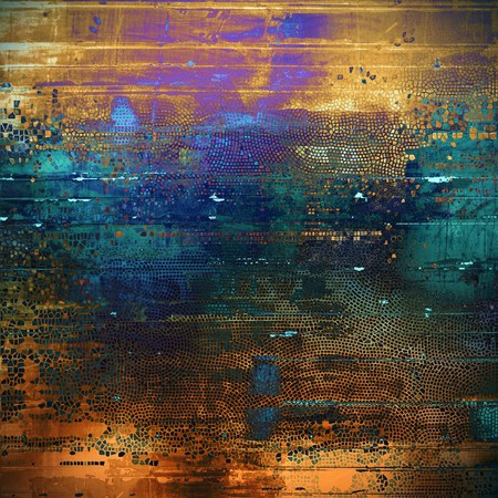 eroded: Colorful abstract retro background, aged vintage texture. With different color patterns: yellow (beige); brown; green; blue; red (orange); purple (violet)