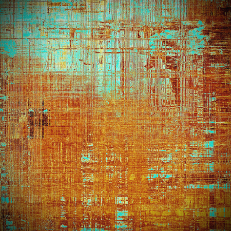 eroded: Retro style background with grungy vintage texture and different color patterns: yellow (beige); brown; blue; red (orange); pink