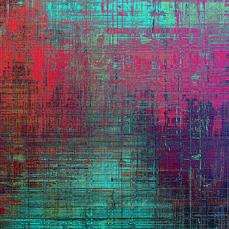 Grunge background or vintage texture in traditional retro style. With different color patterns: blue; red (orange); purple (violet); cyan; pink