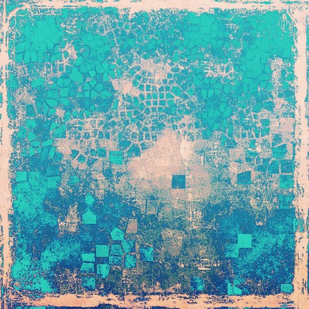 Antique frame with grunge background. With different color patterns: blue; gray; cyan; pink